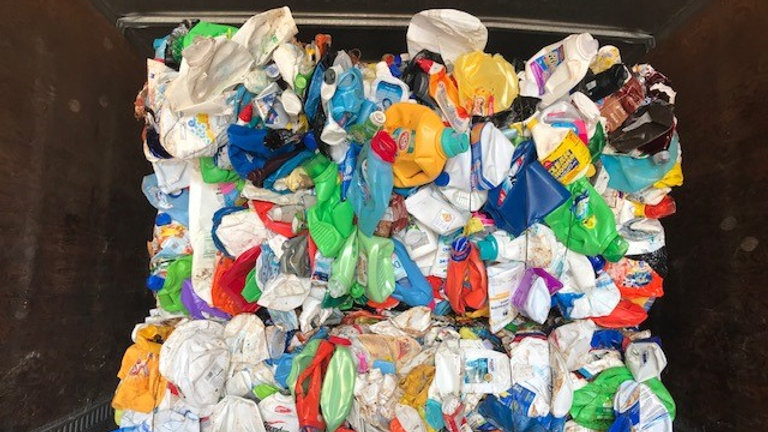 Offer RR4011A 40,000 lbs HDPE Mixed Color bottles in bale available FAS Norfolk