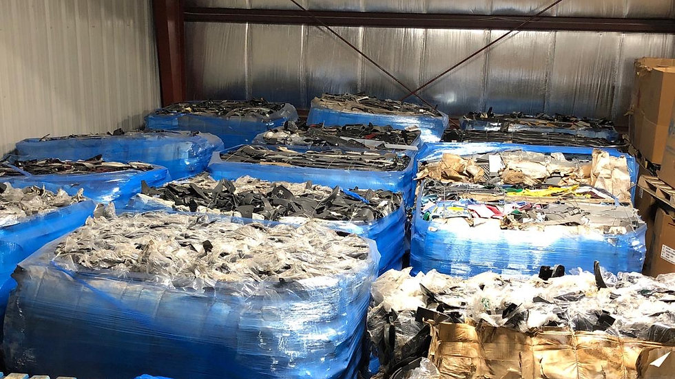 Offer RR4061A 450,000 lbs Mixed Autoparts in bales, approx 35,000 lbs per contai