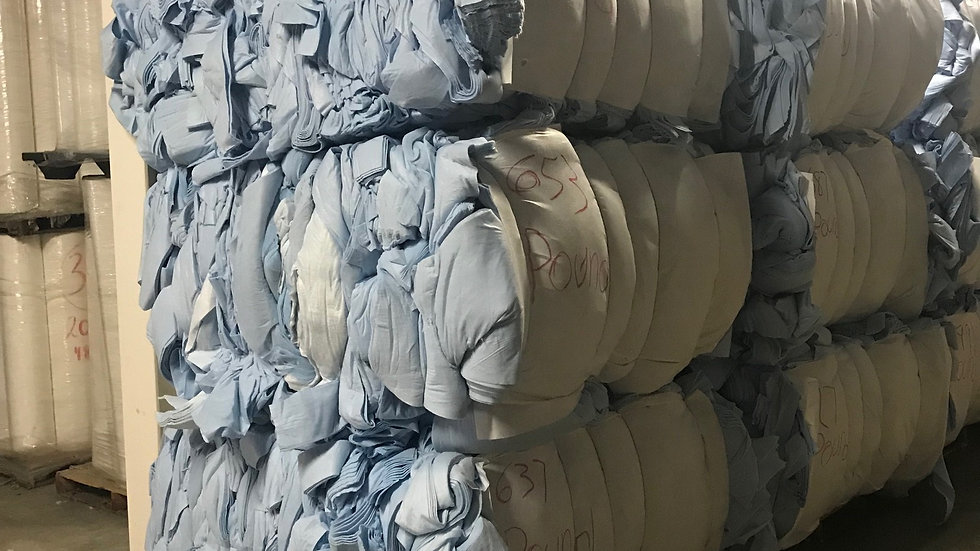 Offer RR4079A PET Non Woven in blue, gray and white in bales - 30k on 40ft HC -