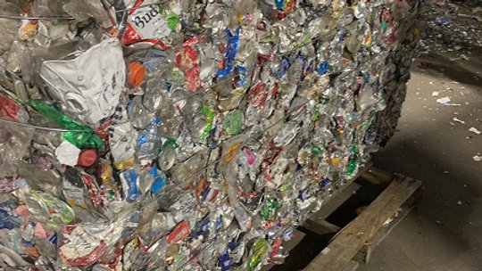 Offer RR3037J 80,000 lbs per week 40 to 50% Aluminum cans in bales with 40% to 5