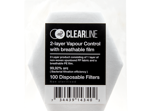 Clearline Disposable filter - 100 pack