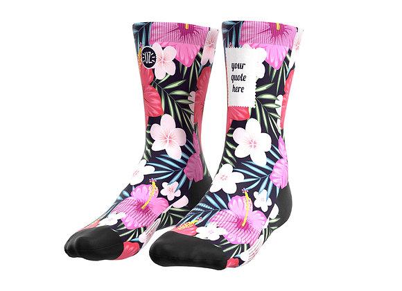 Hybiscus - Custom quote socks