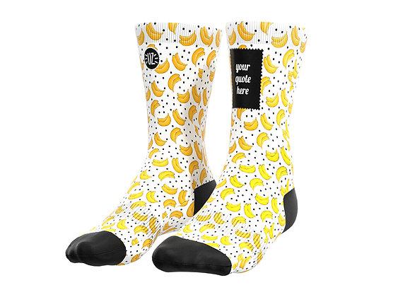 Bananas - Custom quote socks