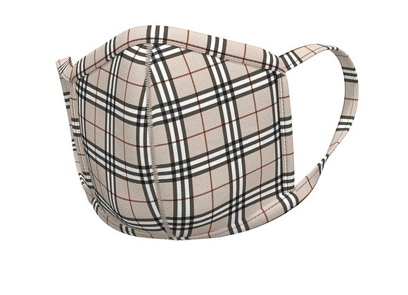 Plaid Face mask -with matching ear loops