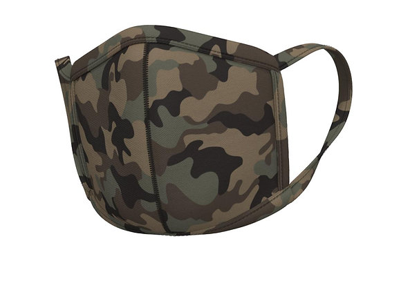 Camo Face mask -with matching ear loops