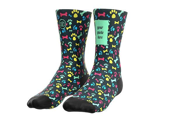 the Dog - Custom quote socks