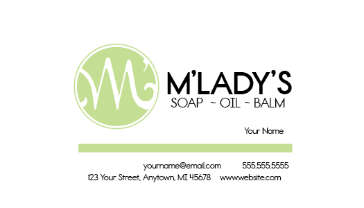 M'Lady's - Business Card
