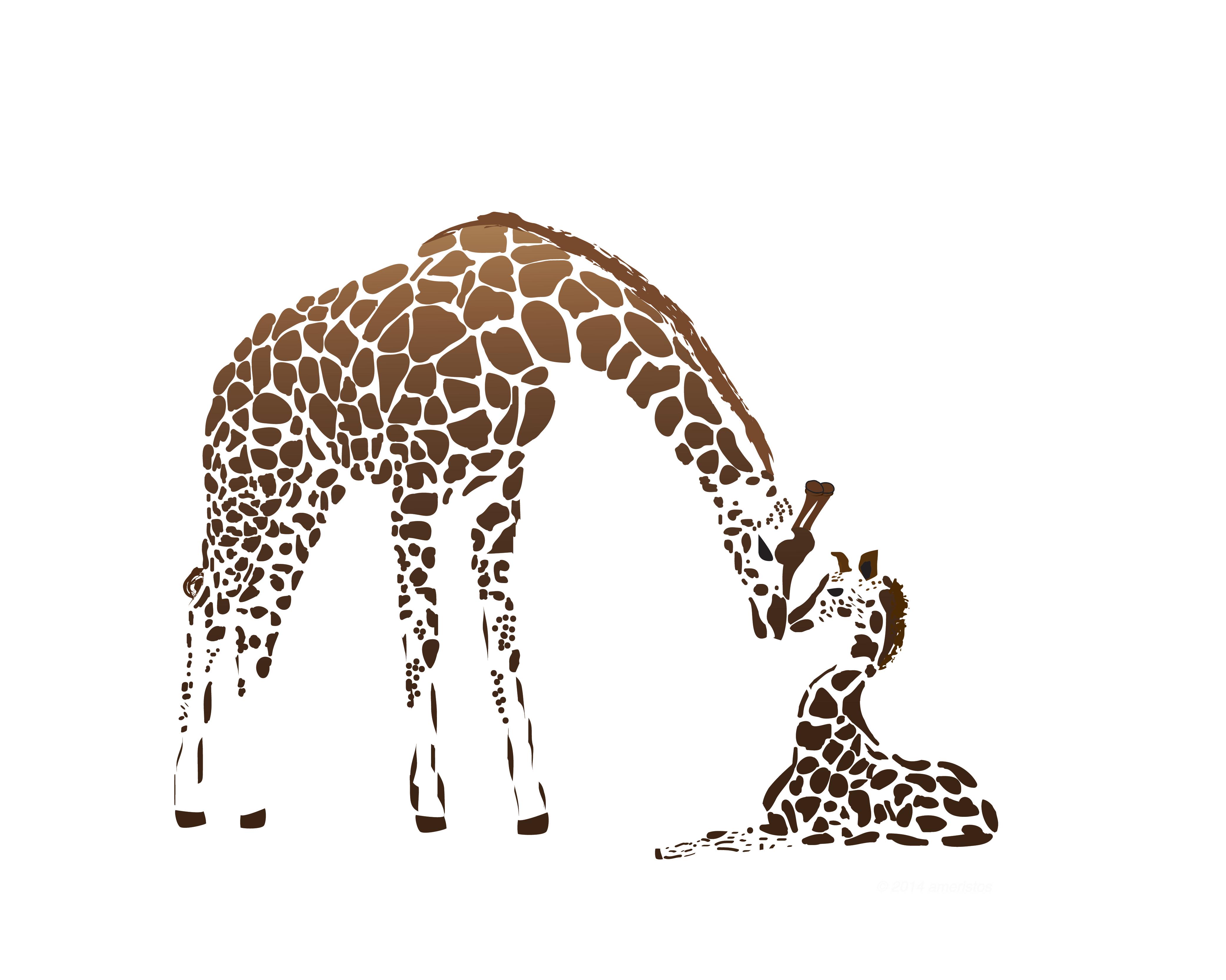 White Space Giraffe