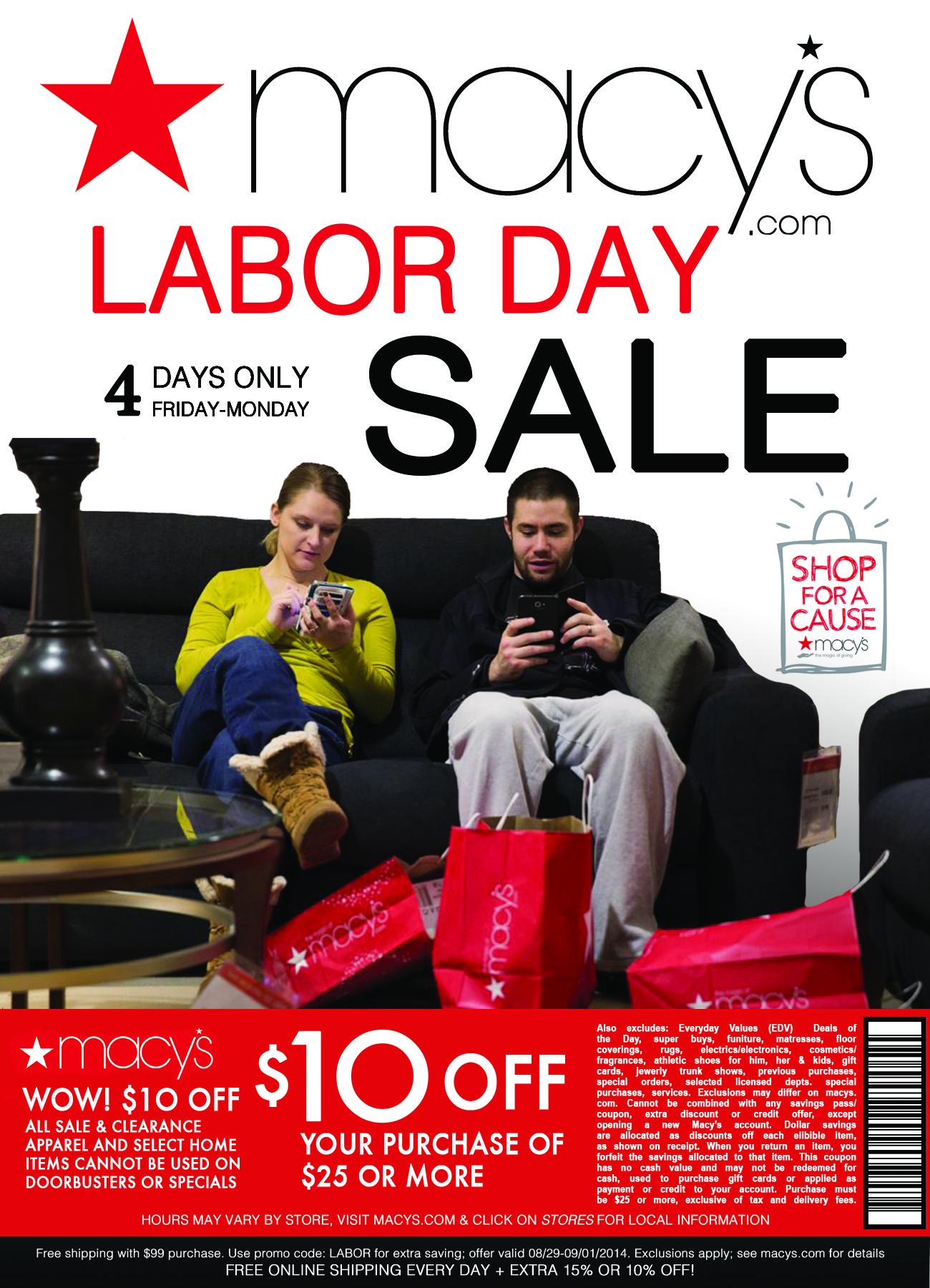 Macy's Labor Day Sale