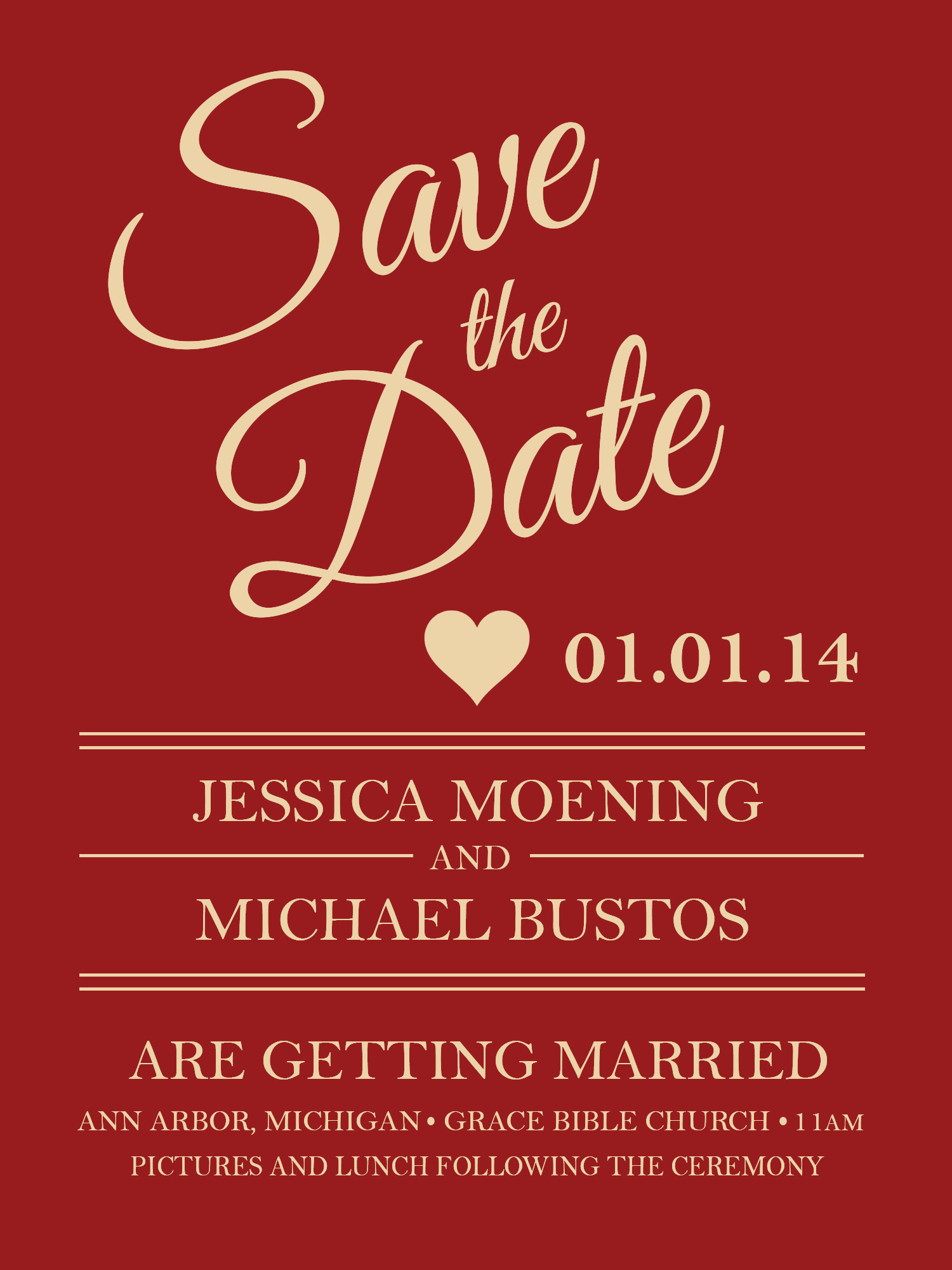 Wedding (Save the Date)