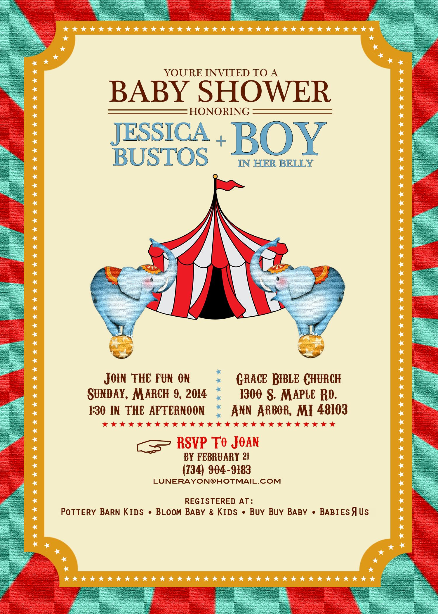 Baby Shower (Circus)