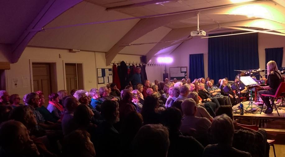 A warm and appreciative audience at Bamford Arts