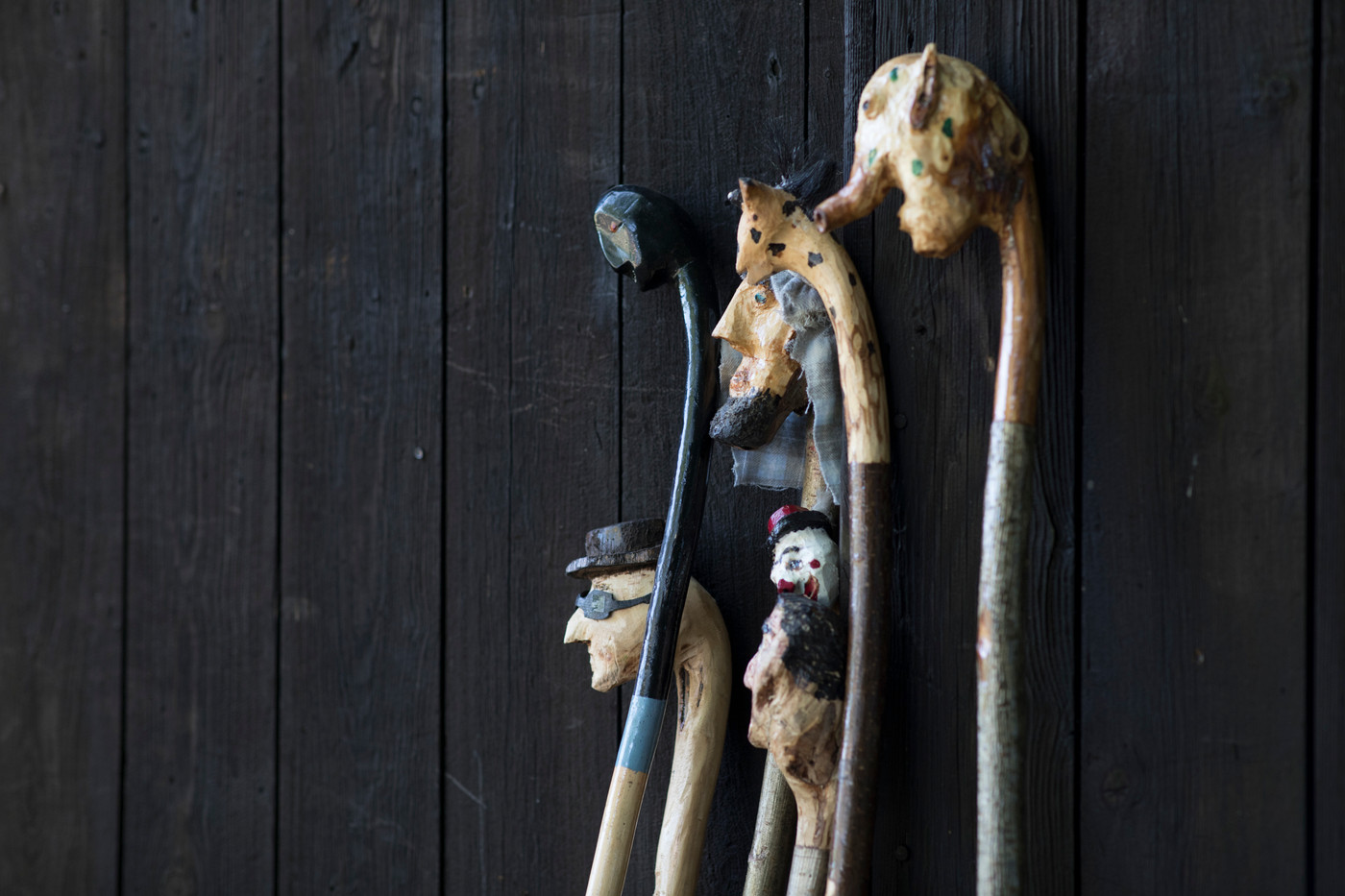 "The ""Tall Tales"" walking sticks..."