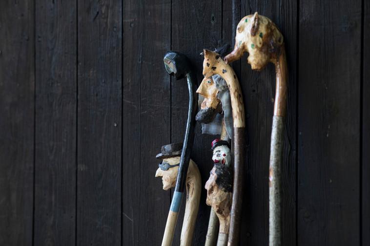 """The """"Tall Tales"""" walking sticks..."""