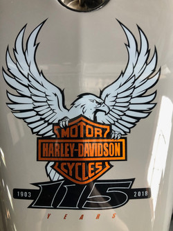 Harley Davidson Tank, Airbrushed Eagle L