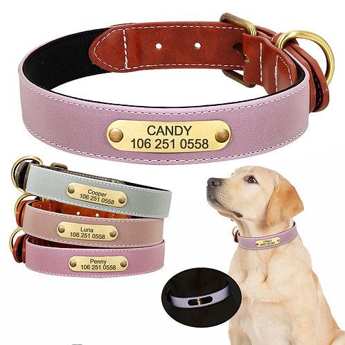 Zgardă Candy Personalizată, Textură Fină, Reflectorizantă