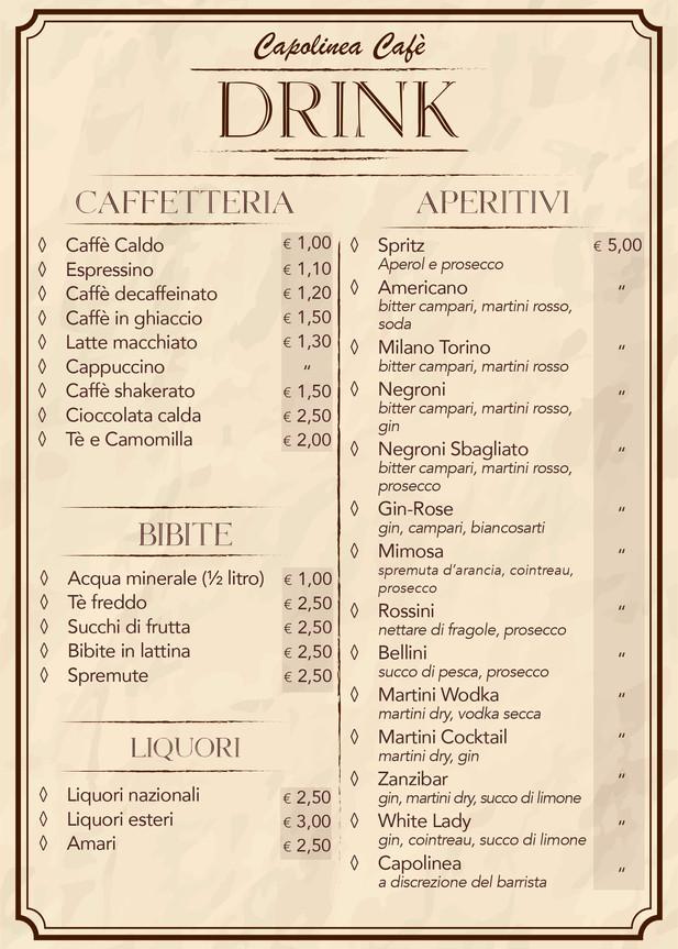 Caffetteria - Aperitivi - Drink