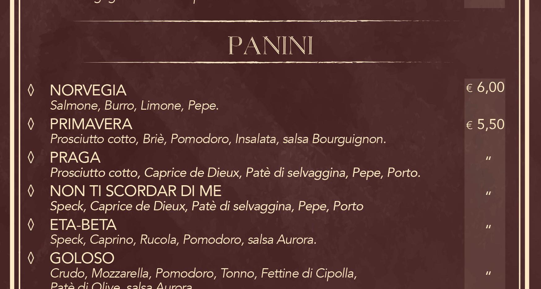 Cucina - Panini