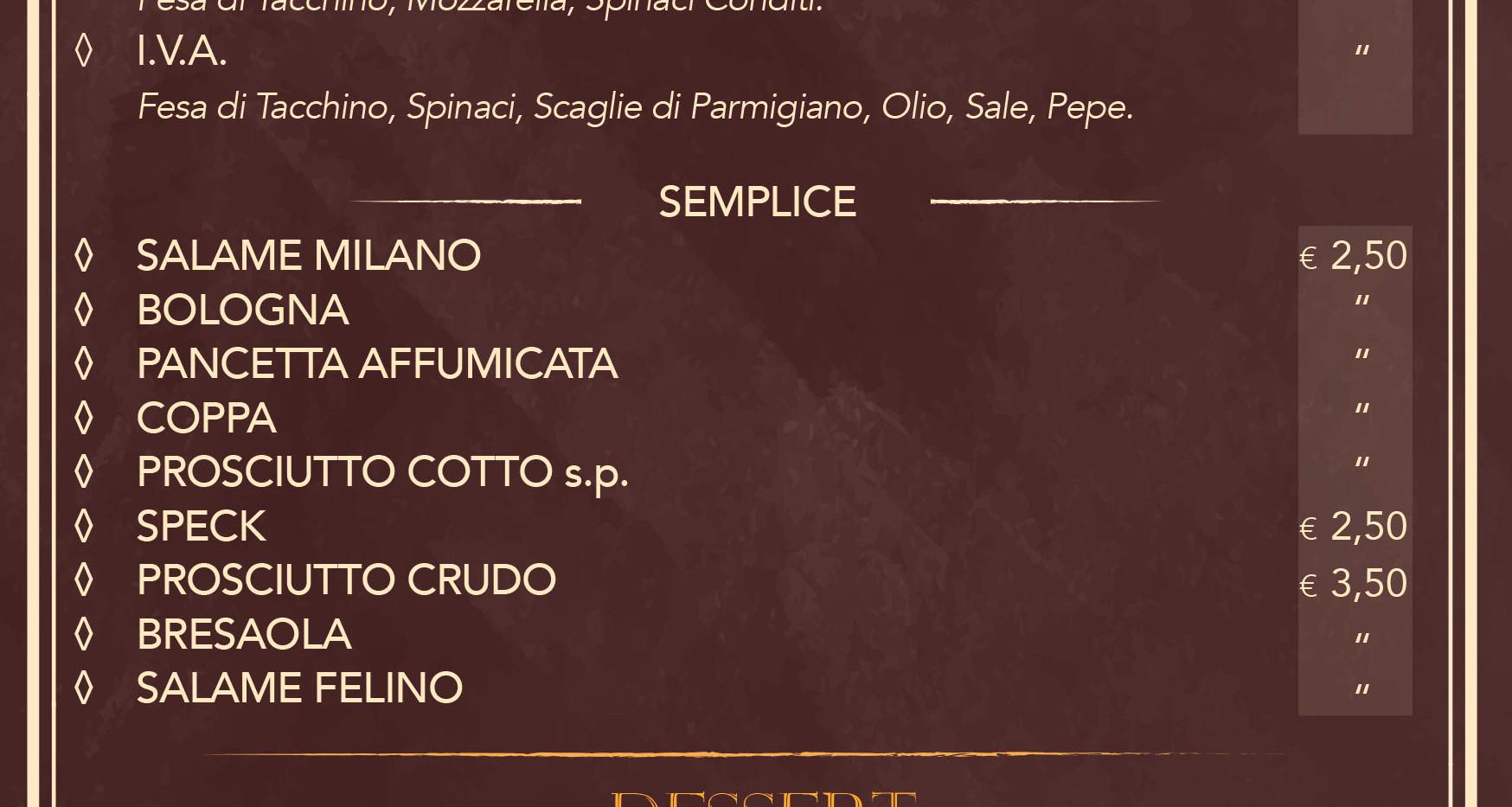 Panini 3 - Dessert