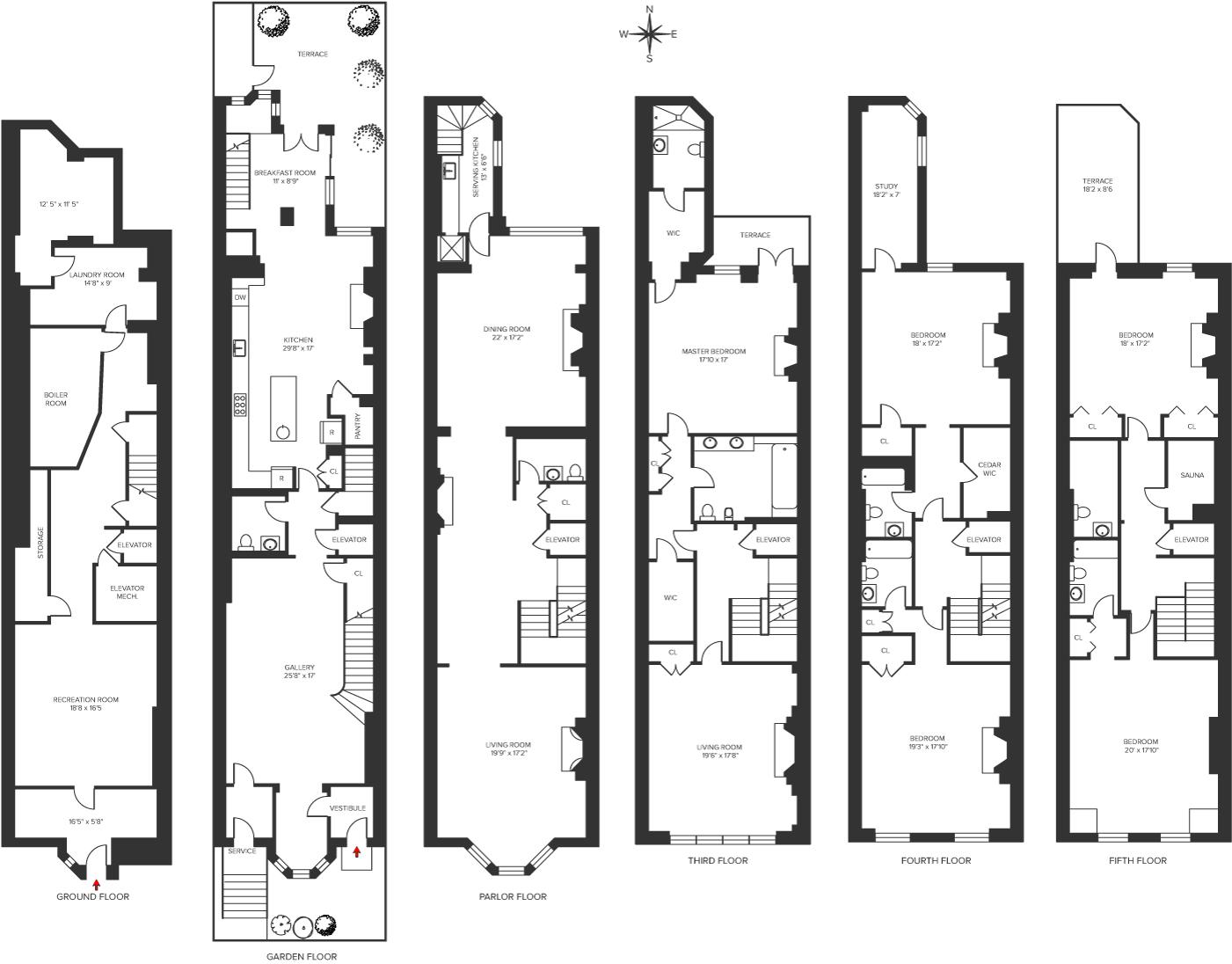 13 East 71st Street Floorplan