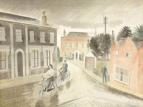 Village Street Print by Eric Ravilious