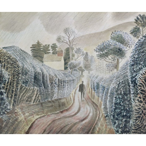Wet Afternoon Print by Eric Ravilious