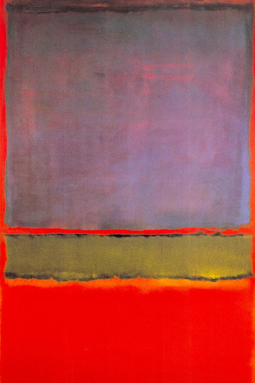 No. 6 (Violet, Green, & Red) 1951 Print by Mark Rothko