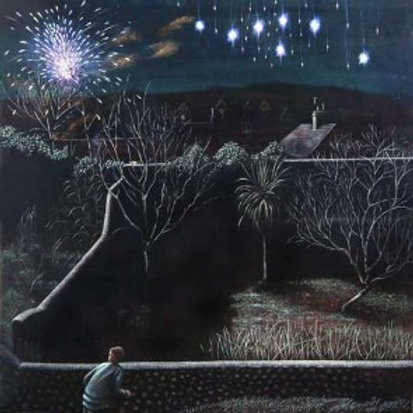Fireworks from the Moat Garden Print by Peter Messer