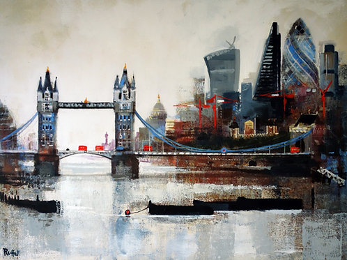 Tower Bridge and City Signed Print by Colin Ruffell