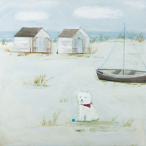 Hannah Cole Dog Painting