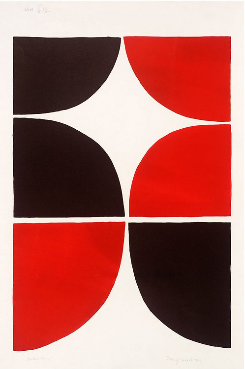 Red and Black Solid Print by Terry Frost