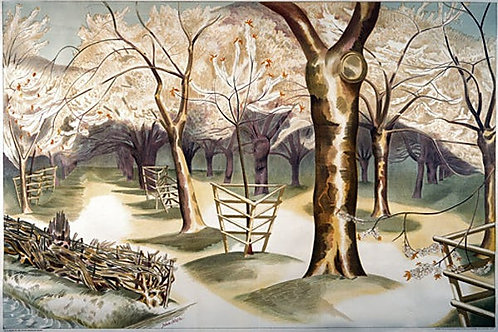 Fruit Gardens and Orchard Print by John Nash