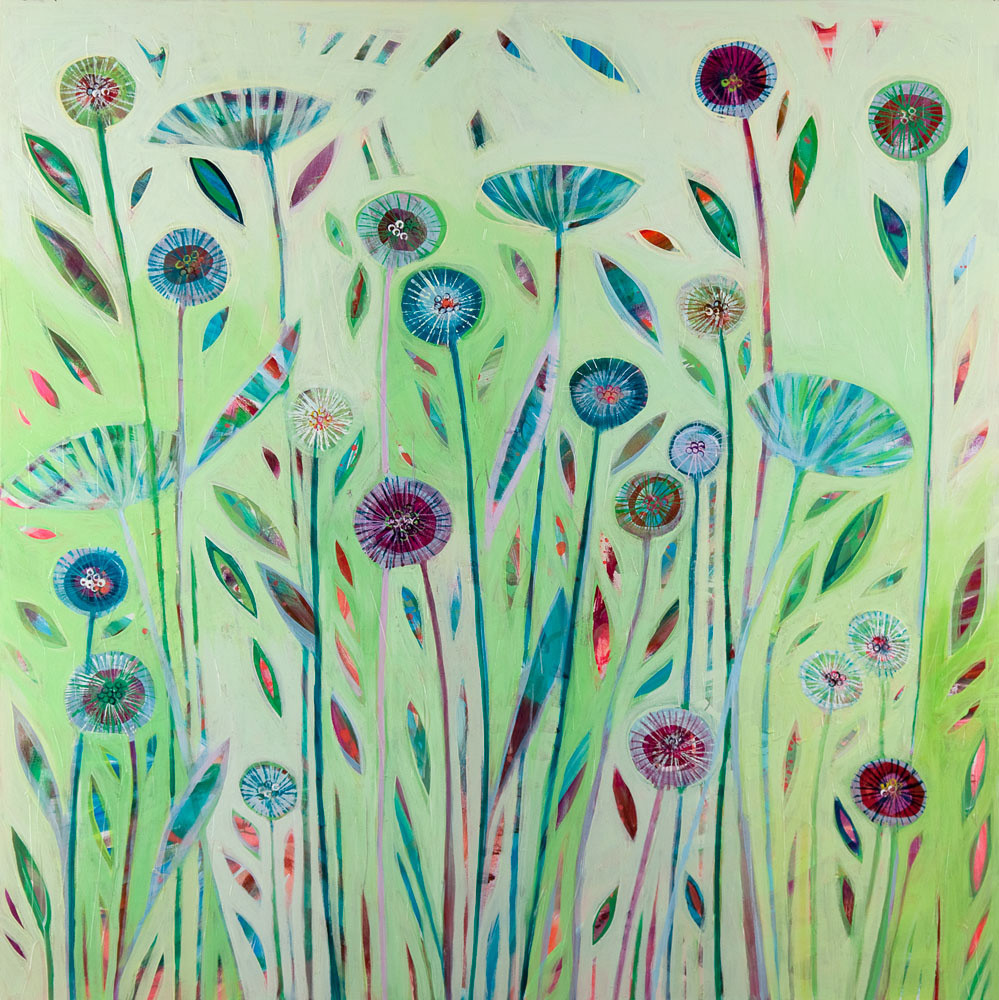 Green Dreams Art Print on Canvas by Shyama Ruffell available from The Fine Art Company