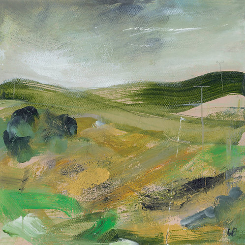 Green Dale Canvas by Lesley Birch