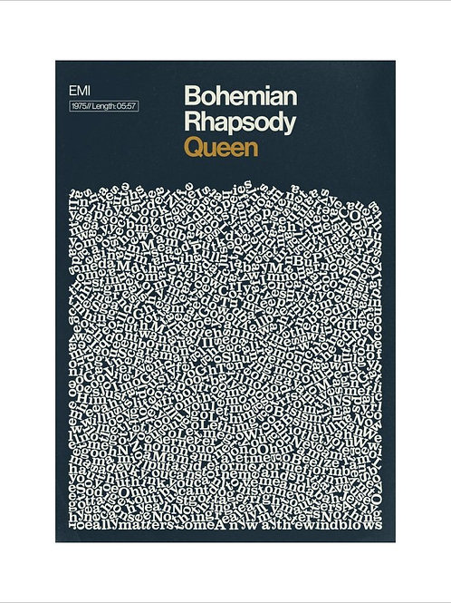 Bohemian Rhapsody Queen Poster by Reign and Hail