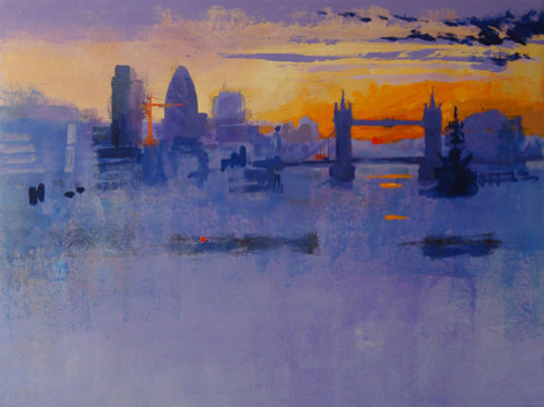 London Sunrise Signed Print by Colin Ruffell