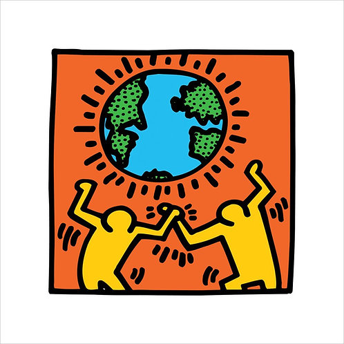 Keith Haring World Poster UK