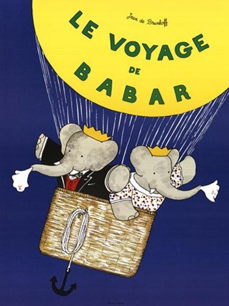 Le Voyage De Babar Art Print by Jean de Brunhoff