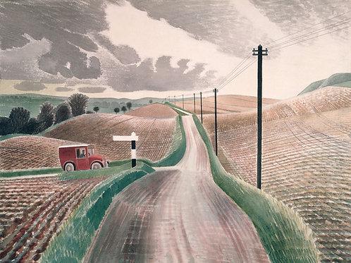 Wiltshire Landscape Print by Eric Ravilious