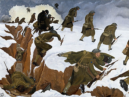 Over The Top, 1917 Print by John Nash