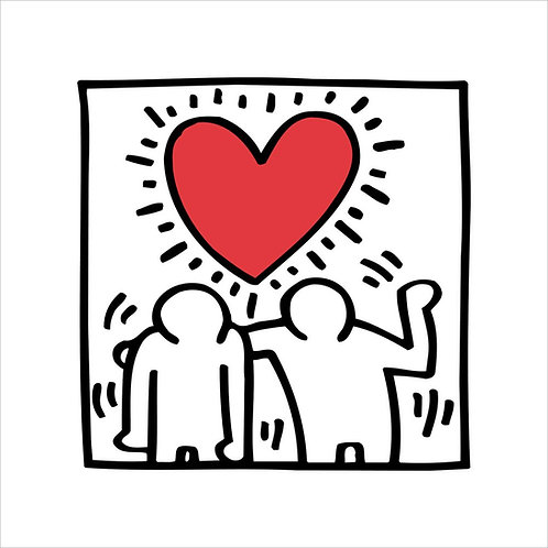 Be Mine Poster Keith Haring