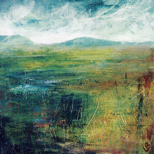 Hill and Water Canvas by Lesley Birch