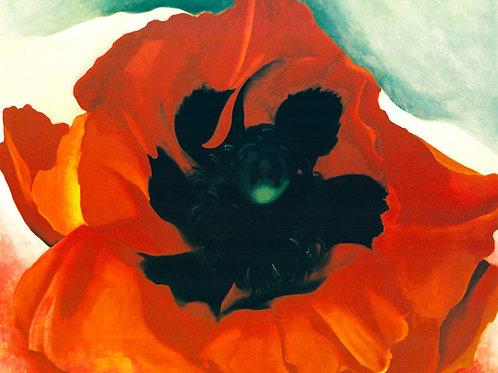 Red Poppy Art Print by Georgia O'Keeffe