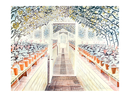 Greenhouse: Tomatoes and Cyclamen Print by Eric Ravilious