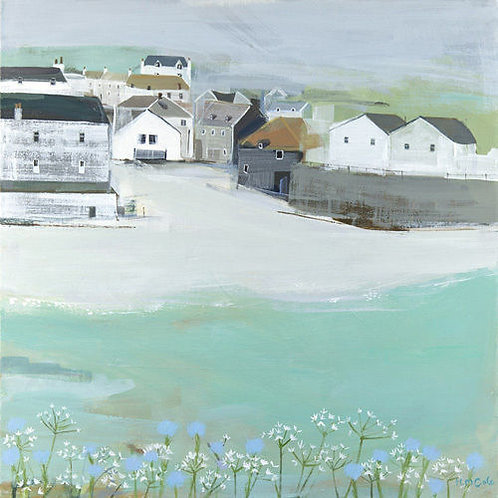 Wild Garlic by the Sea Canvas by Hannah Cole