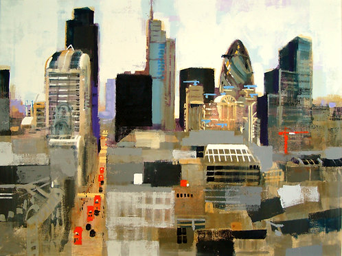 City of London Signed Print by Colin Ruffell