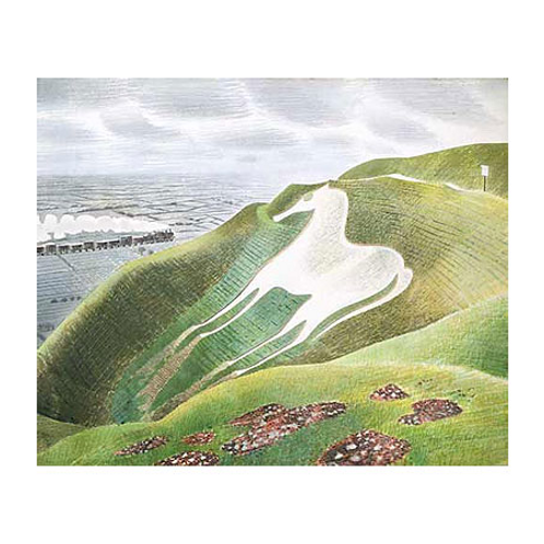 Westbury Horse Limited Edition Print by Eric Ravilious