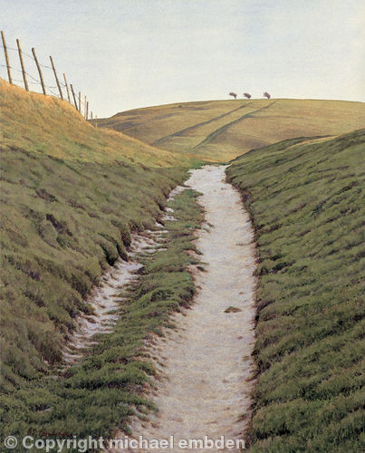 Chalk Paths - Browse paintings by Sussex artist Michael Embden