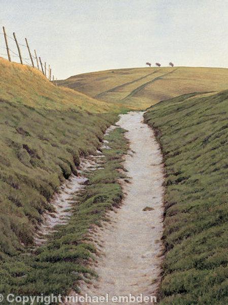Chalk Path Print by Michael Embden