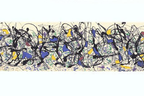 Summertime Silkscreen Print by Jackson Pollock